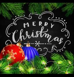 Black chalkboard for christmas vector