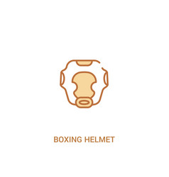 Boxing helmet concept 2 colored icon simple line vector