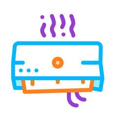 broken office conditioner thin line icon vector image