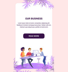 business colleagues at working process in office vector image
