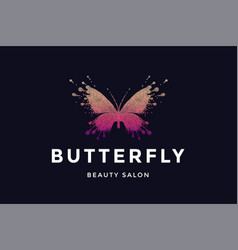 Butterfly logo for beauty salon vector