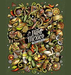 Cartoon doodles latin america funny vector