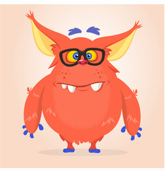 cartoon of a red halloween monster vector image