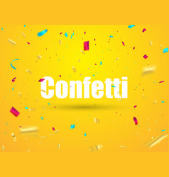 celebration background template with confetti vector image