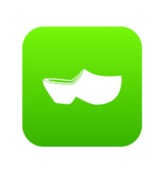 Clogs icon digital green vector