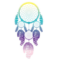 colorful dreamcatcher design vector image