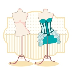 Corsets vector image