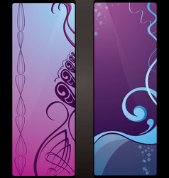 couple of business cards vector image