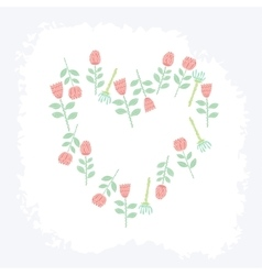 creative floral universal card vector image