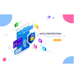 cyber security and authentication concept vector image