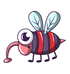 dangerous fly icon cartoon style vector image