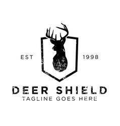 deer shield logo design inspiration vector image