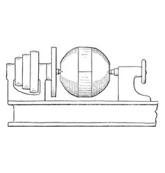 Device turning metal centrifugal governor ball vector