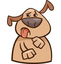 dog expressing yuck cartoon vector image