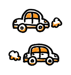 doodle simple cars vector image