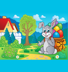 Easter bunny theme image 7 vector