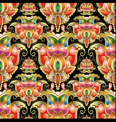 ethnic style colorful paisley seamless pattern vector image