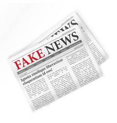 Fake news realistic newspaper isolated vector