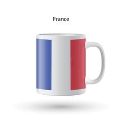 France flag souvenir mug on white background vector