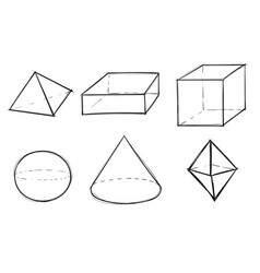 geometric shapes different figures vector image