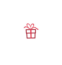 gift love abstract logo symbol design vector image