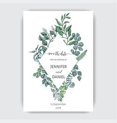 hand drawn wedding eucalyptus vector image