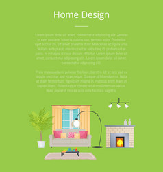 home design poster and text vector image