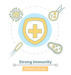 icon strong immune system protection vector image