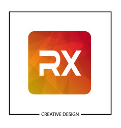 initial letter rx logo template design vector image