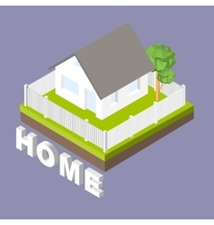 Isometric 3D icon Pictograms house with a white vector image