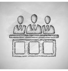 Jurors icon vector