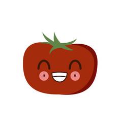 Kawaii tomato vegetable fresh food image vector