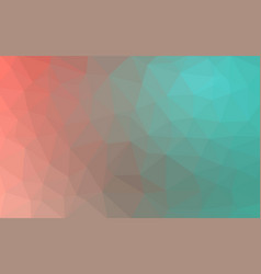 light green red low poly crystal background vector image