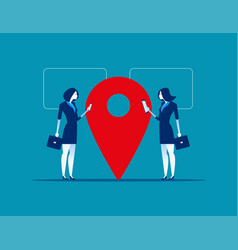 location business people near location point vector image