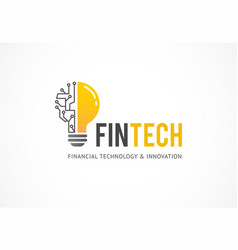 logo concept for fintech industry vector image