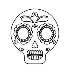 mexican skull icon vector image