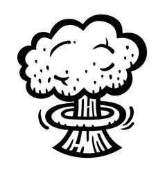 Mushroom cloud atomic nuclear bomb explosion vector