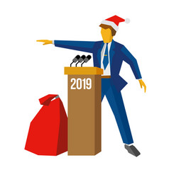 new year 2018 concept - speaker vector image