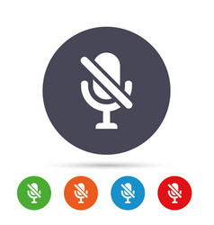 No microphone sign icon speaker symbol vector