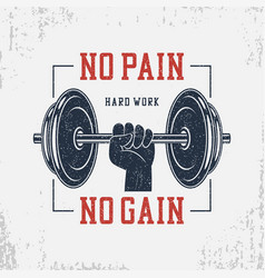 no pain no gain t-shirt set vector image