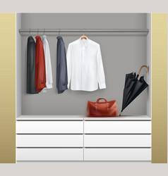 open white wardrobe vector image