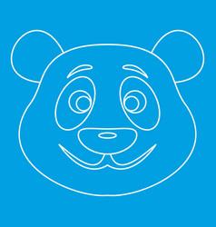 Panda bear icon outline style vector