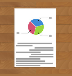 pie chart parts vector image
