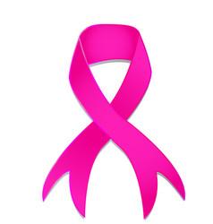 pink ribbon isolated logo vector image