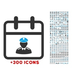 Police day icon vector