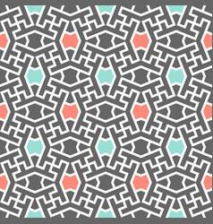 Polka dot trendy fashion pattern iranian color vector