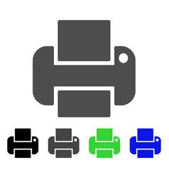 Printer flat icon vector