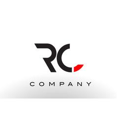 Rc logo letter design vector