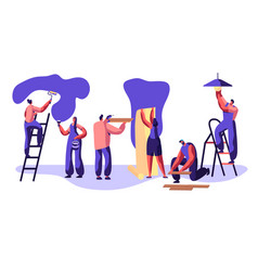 repair service professional worker craftsman vector image