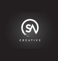 Sa circular letter logo with circle brush design vector